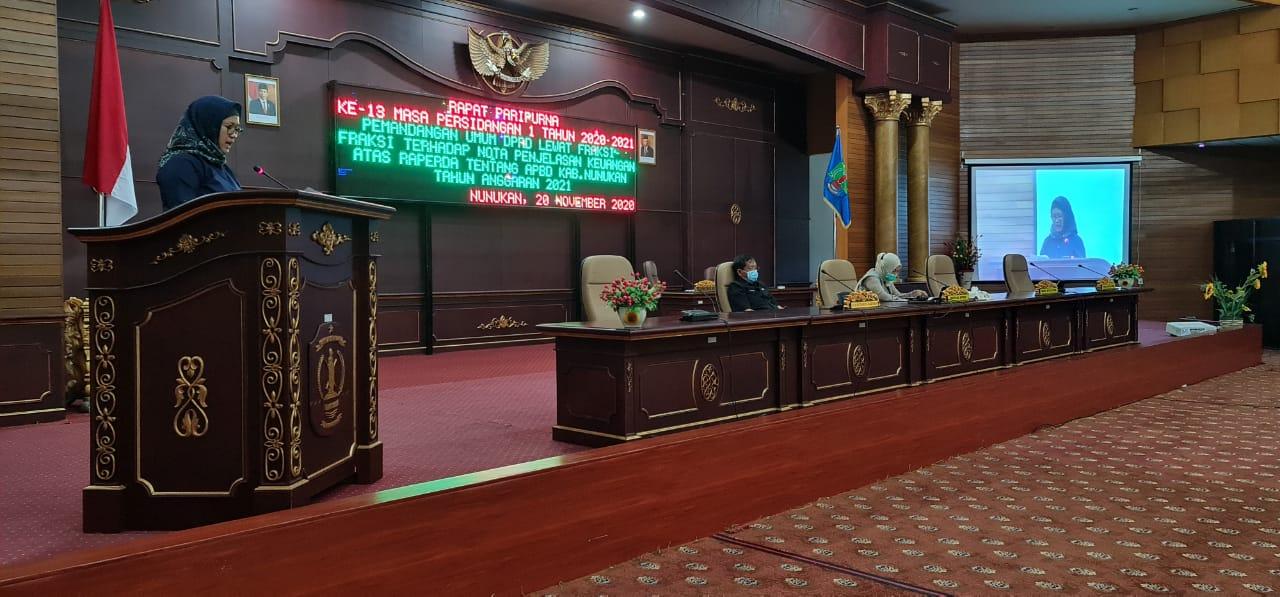 Fraksi DPRD : APBD 2021 Fokus Ke Pemulihan Ekonomi Nunukan